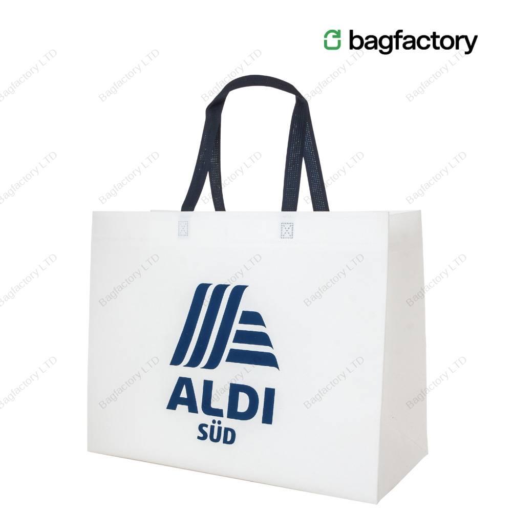 XXXL oversized heavy duty non-woven bag in size: 49 cm width x 22 cm depth x 39 cm height with long handles