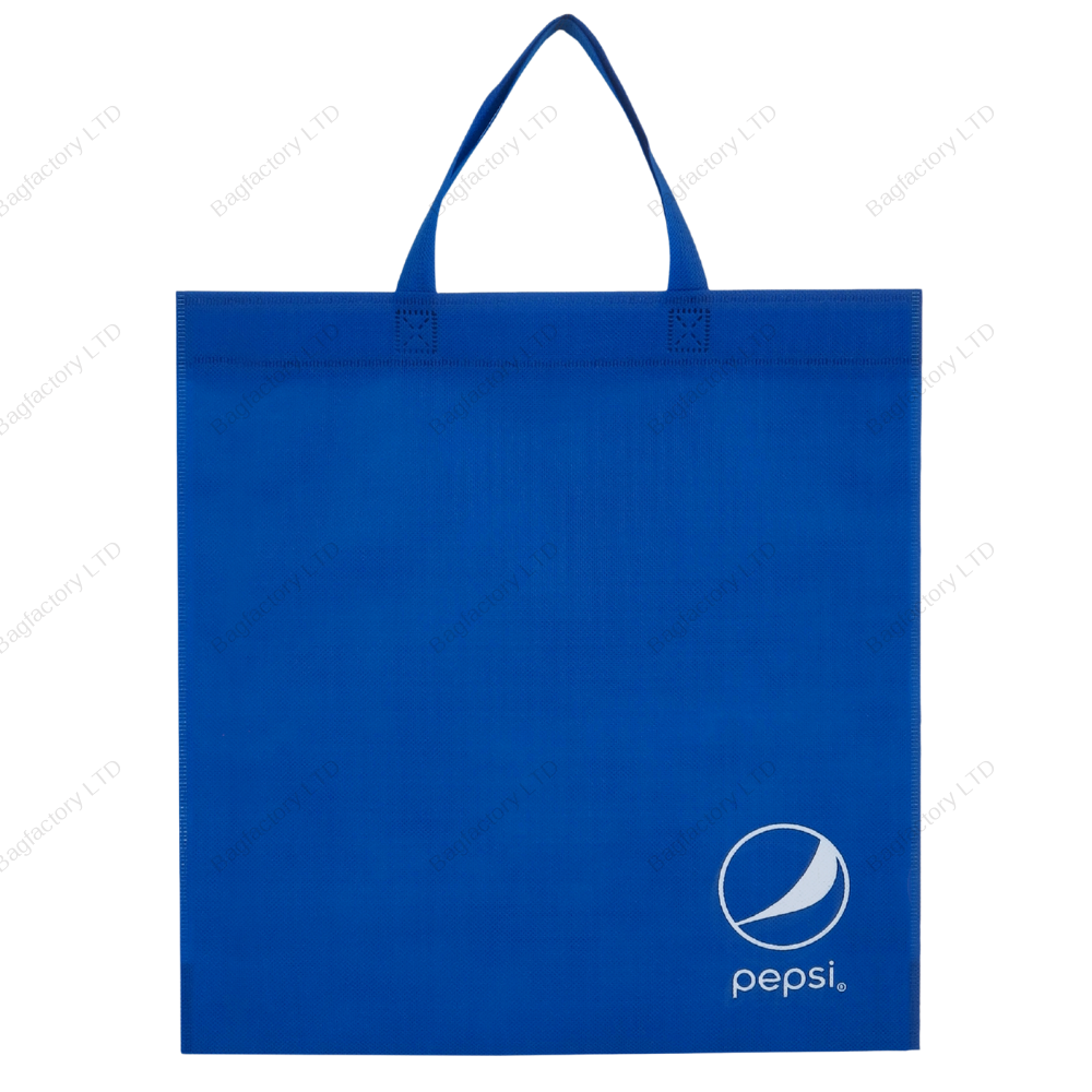 Promotional eco-friendly non-woven bag in size: 38 cm width x 42 cm height and made in europe.